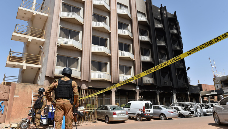 January 16 - Burkina Faso hotel attack: At least 20 reported dead, 63 hostages released